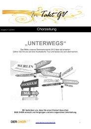 Ausgabe 7 Juli 2012 - Der CHOR GV Grunbach
