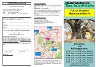 FLL -zertifizierte/r Baumkontrolleur/in, Lehrgänge 2013