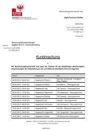 Abschussplanbesprechungen - Gemeinde Silz