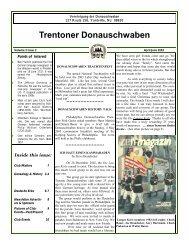 Trentoner Donauschwaben - Trenton Donauschwaben Association