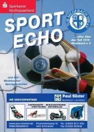 Ausgabe 11/2008 - Tus Medebach 1919 e.V.