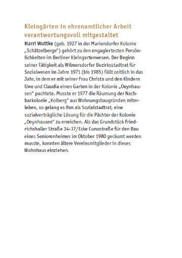 Harri Wuttke - Landesverband Berlin der Gartenfreunde e. V.