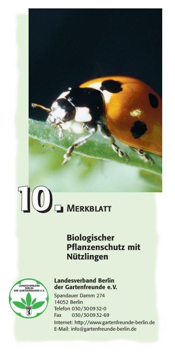 Faltblatt 10 als PDF - Landesverband Berlin der Gartenfreunde e. V.
