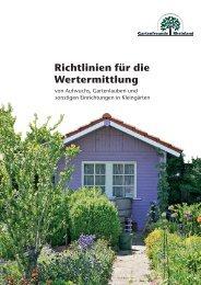 Richtlinien für die Wertermittlung - Landesverband Rheinland der ...