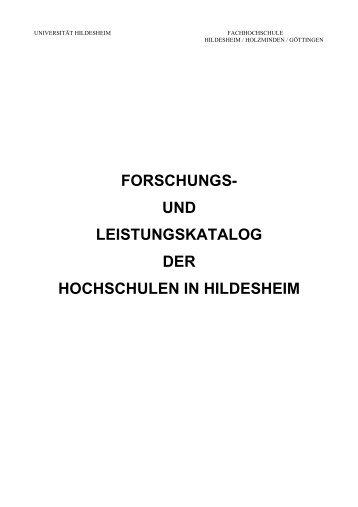 forschungs- und leistungskatalog der hochschulen in ... - Mentoring