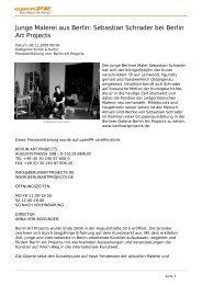 Junge Malerei aus Berlin: Sebastian Schrader bei Berlin Art Projects