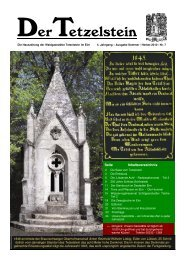 Die Hauszeitung der Waldgaststätte Tetzelstein im Elm 4