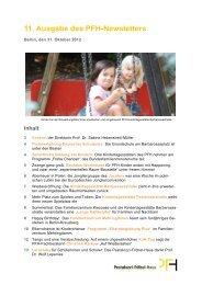 PFH-Newsletter 11.pdf - Das Pestalozzi-Fröbel-Haus
