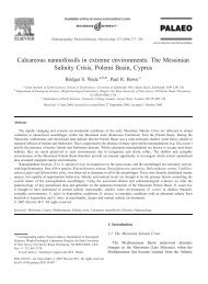 Calcareous nannofossils in extreme environments: The Messinian ...