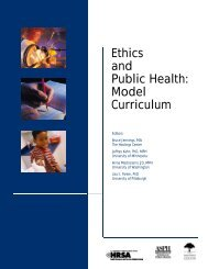 Ethics and Public Health: Model Curriculum - Association of Schools ...