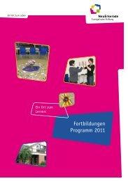 Fortbildungen Programm 2011 - NeuErkerode