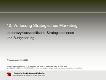 Strategische Situationsanalyse - Technische Universität Berlin