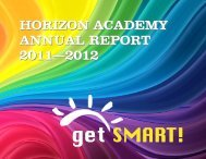 HORIZON ACADEMY ANNUAL REPORT 2011—2012