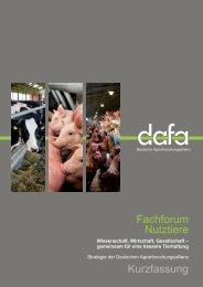 DAFA-Strategie Nutztiere - Deutsche Agrarforschungsallianz