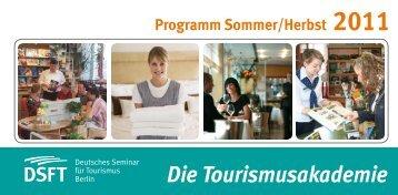 Programmheft Sommer/Herbst 2011 - Deutsches Seminar für ...