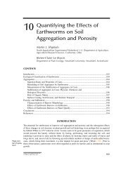 10 Quantifying the Effects of Earthworms on Soil Aggregation and ...