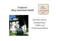 Confiserie Burg Lauenstein GmbH - KRONACH Creativ e. V.
