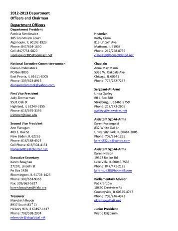 2012-2013 Officers List - Ilala.org