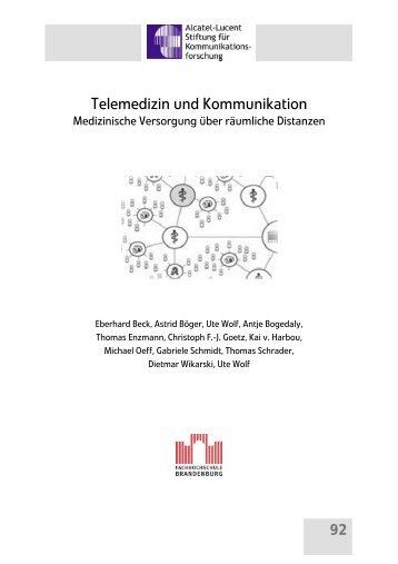 Telemedizin und Kommunikation - Alcatel-Lucent Stiftung für ...