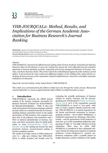 VHB-JOURQUAL2 - BuR - Business Research