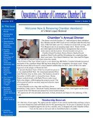 November 2010 - Osawatomie Chamber of Commerce