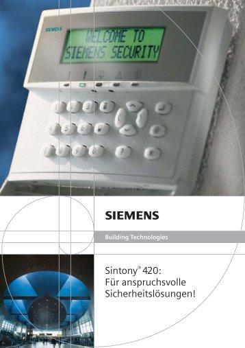 Sintony® 420: Für anspruchsvolle Sicherheitslösungen!