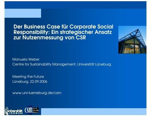 Ein strategischer Ansatz zur Nutzenmessung von CSR