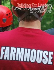 PDF Annual Report for printing - FarmHouse Fraternity