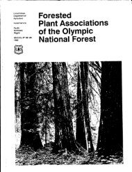 Plant Associations of the Olympic - ScholarsArchive at Oregon State ...