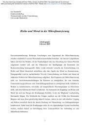 Risiko und Moral in der Mikrofinanzierung - Transnationale Soziale ...