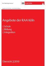 Angebote der RAA Köln - RAA NRW