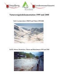Naturereignisdokumentation 1999 und 2000 - Vorarlberg
