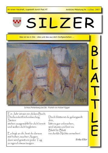 Im Namen des Sportvereins Silz 1930 ... - Gemeinde Silz - Land Tirol