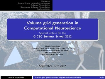 Volume grid generation in Computational ... - G-CSC Home
