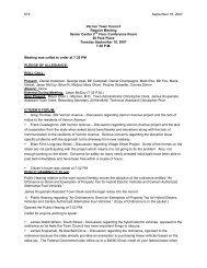 672 September 18, 2007 Vernon Town Council ... - Town of Vernon