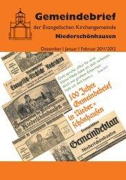 Gemeindebr./Inhalt IV/11 - Friedenskirche Niederschönhausen