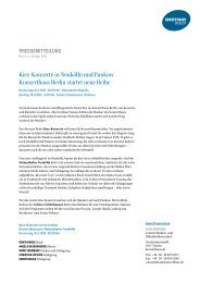 Presseinformation zum Download (ca. 70 KB) - Konzerthaus Berlin