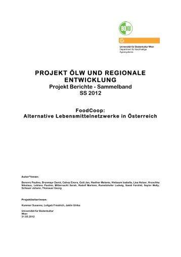 Projekt-Bericht (pdf, 70 Seiten) - Boku