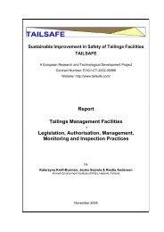Report Tailings Management Facilities - Legislation ... - Tailsafe.com
