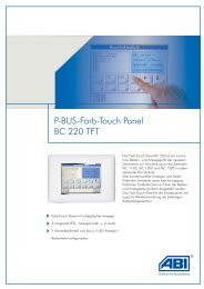 P-BUS-Farb-Touch Panel BC 220 TFT - SIS Security GmbH