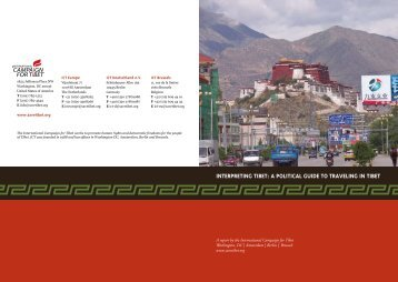 interpreting tibet: a political guide to traveling in tibet - International ...