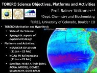 TORERO – Science Objectives, Platforms and Activities - eol