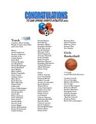 TO OUR SPRING SPORTS ATHLETES 2012: - Gilbert Public Schools