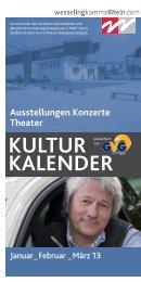 Kulturkalender - Stadt Wesseling