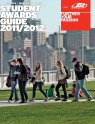 student awards guide 2011/2012 - SAIT Polytechnic