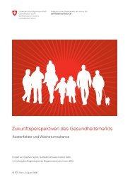 Zukunftsperspektiven des Gesundheitsmarkts - Collegium Helveticum