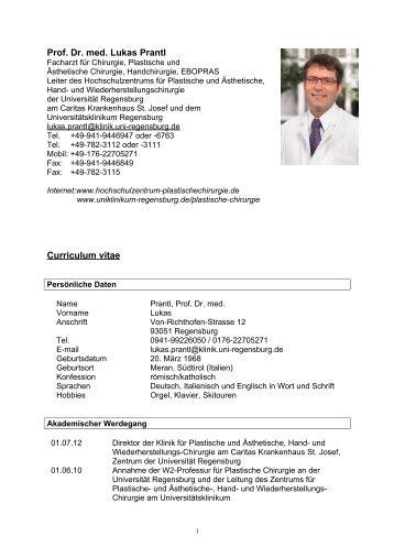 Lebenslauf und Publikationen von Dr. Pintsov