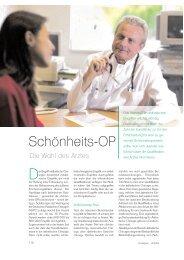 Schönheits-OP - Die Wahl des Arztes - Dr. med. Karl Schuhmann