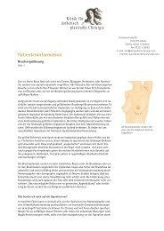 Patienteninformation - Klinik für ästhetisch plastische Chirurgie ...