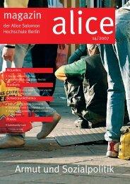 Armut und Sozialpolitik - Alice Salomon Hochschule Berlin